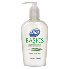Dial Basics Liquid Hand Soap, 7.5oz, Honeysuckle