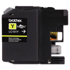 Brother LC101Y, LC101Y Ink, 300 Page-Yield, Yellow