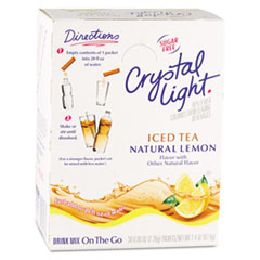 Crystal Light On the Go, Iced Tea, .16oz Packets, 30/Box