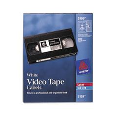 Avery Inkjet/Laser Video Tape Labels, Matte White, 600/Pack
