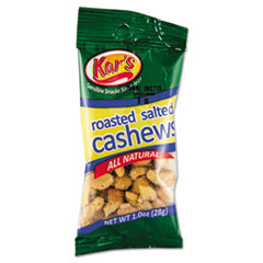 Kar's Nuts Caddy, Salted Cashews, 1oz Packets, 30/Box