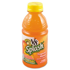 Campbell�s V-8 Splash, Tropical Blend, 16oz Bottle, 12/Box