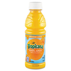 Tropicana 100% Juice, Orange, 10 oz Plastic Bottle, 24/Carton