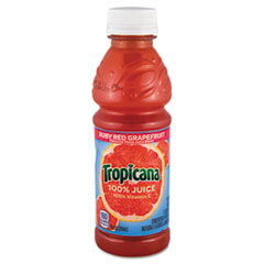 Tropicana 100% Juice, Ruby Red Grapefruit, 10oz Plastic Bottle, 24/Carton