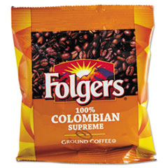 Folgers Coffee, 100% Colombian, Ground, 1.75oz Fraction Pack, 42/Carton