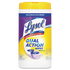 LYSOL Brand Dual Action Citrus Disinfecting Wipes, 7 x 8, 75/Canister