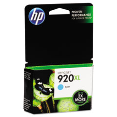 CD972AN (HP 920XL) High-Yield Ink Cartridge, 700 Page-Yield, Cyan