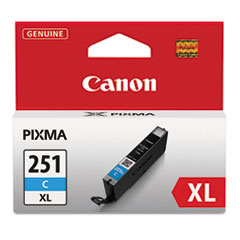 Canon 6449B001 (CLI-251XL), High-Yield Ink, 11 mL, Cyan