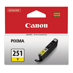 Canon 6516B001 (CLI-251) Ink, 9 mL, Yellow
