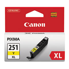 Canon 6451B001 (CLI-251XL), High-Yield Ink, 11 mL, Yellow
