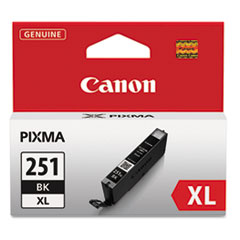 Canon 6448B001 (CLI-251XL), High-Yield Ink, 11 mL, Black