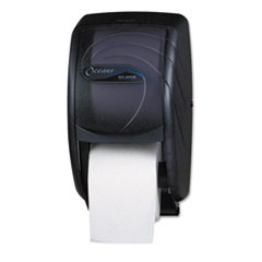 San Jamar Duett Toilet Tissue Dispenser, 7 1/2 x 7 x 12 3/4, Black Pearl