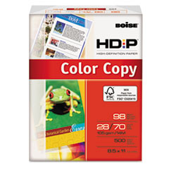 Boise HD:P Copy Paper, 98 Brightness, 28lb, 8-1/2 x 11, White, 500 Sheets/Ream