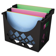 Universal Recycled Desktop File Holder, Plastic, 13 1/4 X 8 1/2 X 9 5/8, Black