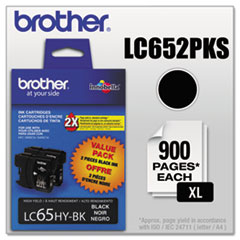 Brother LC652PKS Innobella High-Yield Ink, Black, 2/PK