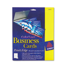 Avery Print-to-the-Edge Two-Sided Business Cards, Color Laser, 2 x 3-1/2, Wht, 160/Pk
