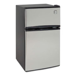 Avanti Counter-Height 3.1 Cu. Ft Two-Door Refrigerator/Freezer, Black/Stainless Steel