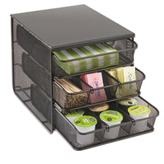 Safco 3 Drawer Hospitality Organizer, 7 Compartments, 8 1/2