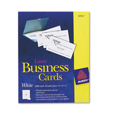 Avery 2-Side Printable Business Cards, 2 x 3 1/2, White, Laser, 10/Sheet, 2500/Pack