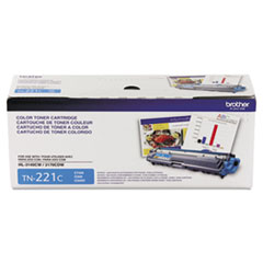 Genuine Brother HL-3140 / HL-3150 / HL-3170, MFC-9130 / MFC-9140 / MFC-9330 / MFC-9340, DCP-9020 (TN221C) Standard Yield Cyan Toner