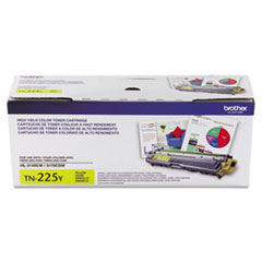 Brother TN225Y Toner, 2200 Page-Yield, Yellow