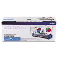 Brother TN225C Toner, 2200 Page-Yield, Cyan