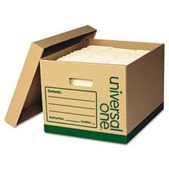 UNV 282234 Universal One Recycled Medium-Duty Record Storage Box UNV282234