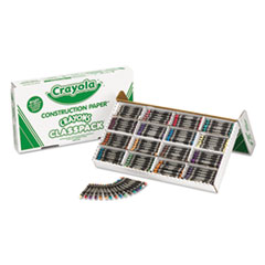 Crayola Construction Paper Crayons, Wax, 25 Sets of 16 Colors, 400/Box