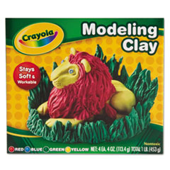Crayola Modeling Clay Assortment, 1/4 lb each Blue/Green/Red/Yellow, 1 lb