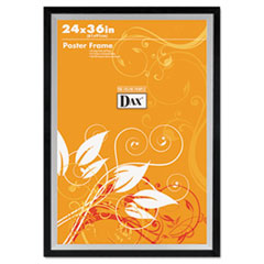 DAX Metro Series Poster Frame, Wood, 24 x 36, Black/Silver