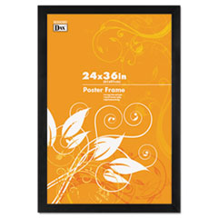 DAX Black Plastic Poster Frame w/Plastic Window, Wide Profile, 24 x 36