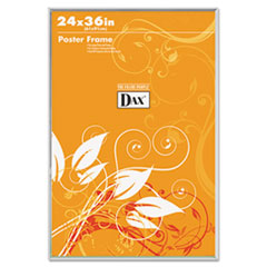 DAX U-Channel Poster Frame, Contemporary Clear Plastic Window, 24 x 36, Clear Border