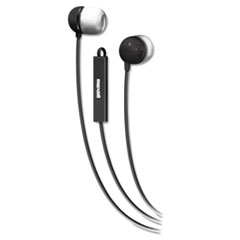 Maxell In-Ear Buds with Built-in Microphone, Black/White