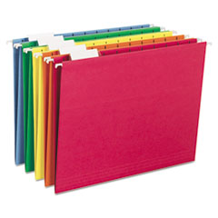 Smead Hanging File Folders, 1/5 Tab, 11 Point Stock, Letter, Assorted Colors, 25/Box