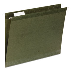 Universal One Reinforced Recycled Hanging Folder, 1/3 Cut, Letter, Standard Green, 25/Box