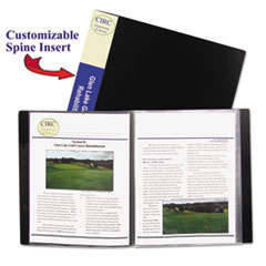 C-Line Bound Sheet Protector Presentation Book, 24 Sleeves, 11 x 8-1/2, Black