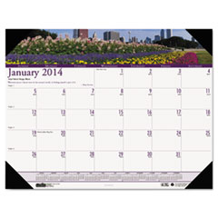 House of Doolittle Gardens of the World Photographic Monthly Desk Pad Calendar, 18-1/2 x 13, 2015