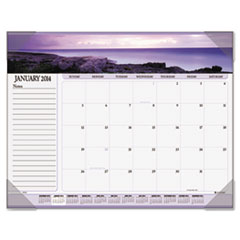AT-A-GLANCE Recycled Seascape Panoramic Desk Pad, 22 x 17, 2014