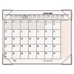 AT-A-GLANCE Recycled Two-Color Desk Pad, Black and Red, 22