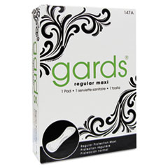 HOSPECO Gards Maxi Pads, #4, 250 Individually Boxed Napkins/Carton