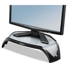 Fellowes Smart Suites Corner Monitor Riser, 3 7/8 to 5 1/8 x 18 1/2 x 12 1/2, Black