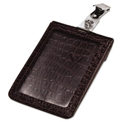AVT 76399 Advantus Croc-Textured Badge Holder AVT76399