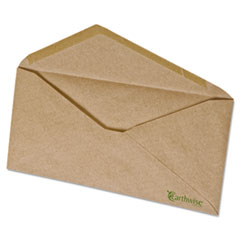 Earthwise Ampad 100% Recycled Paper Envelope, V-Flap, #10, Natural Brown, 500/Box