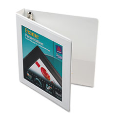 "Framed View Binder With One Touch Locking EZD Rings, 1"" Capacity, White"