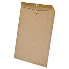 Ampad Earthwise 100% Recycled Paper Clasp Envelope, Side Seam, 9 x 12, Brown, 110/Box
