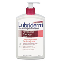 Lubriderm Advanced Therapy Moisturizing Hand/Body Lotion, 16oz Pump Bottle