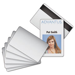 AVT 76354 Advantus Blank PVC ID Badge Card with Magnetic Strip AVT76354