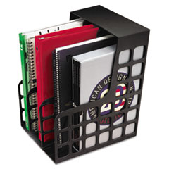 Pendaflex DecoRack Plastic Magazine File, Two Snap-In Dividers, 9 x 10 5/8 x 12, Black