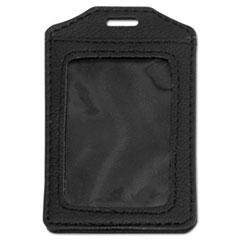 AVT 76341 Advantus Leather-Look Badge Holder AVT76341