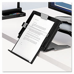Fellowes Professional Series Document Holder, 12w x 2 1/2d x 7 1/2-11 1/2h, Black